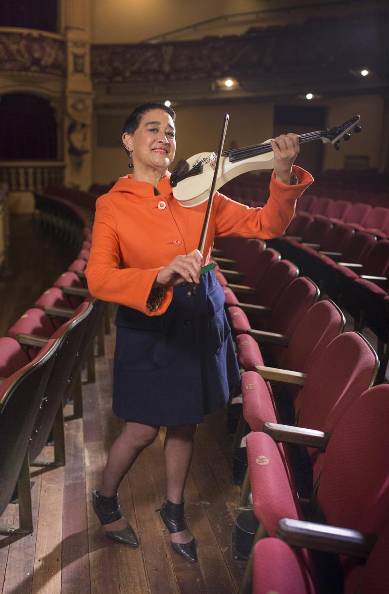 Photoshoot: Venue courtesy St James Theatre,Wellington MUSICAL THEATRE,Photo Michael Hall, Design Howard McGuire, Make Up Kelly Dentice, Coat  WORLD