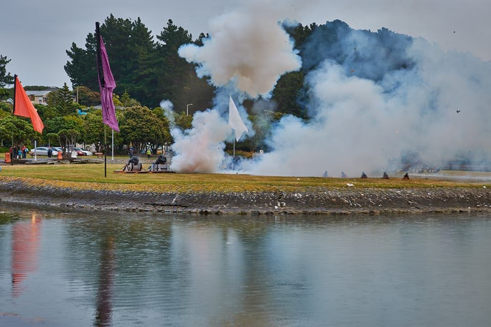 Tchaikovsky 1812 Overture with 16 live cannons. Symphony at the Lagoon- Aotea Lagoon Porirua