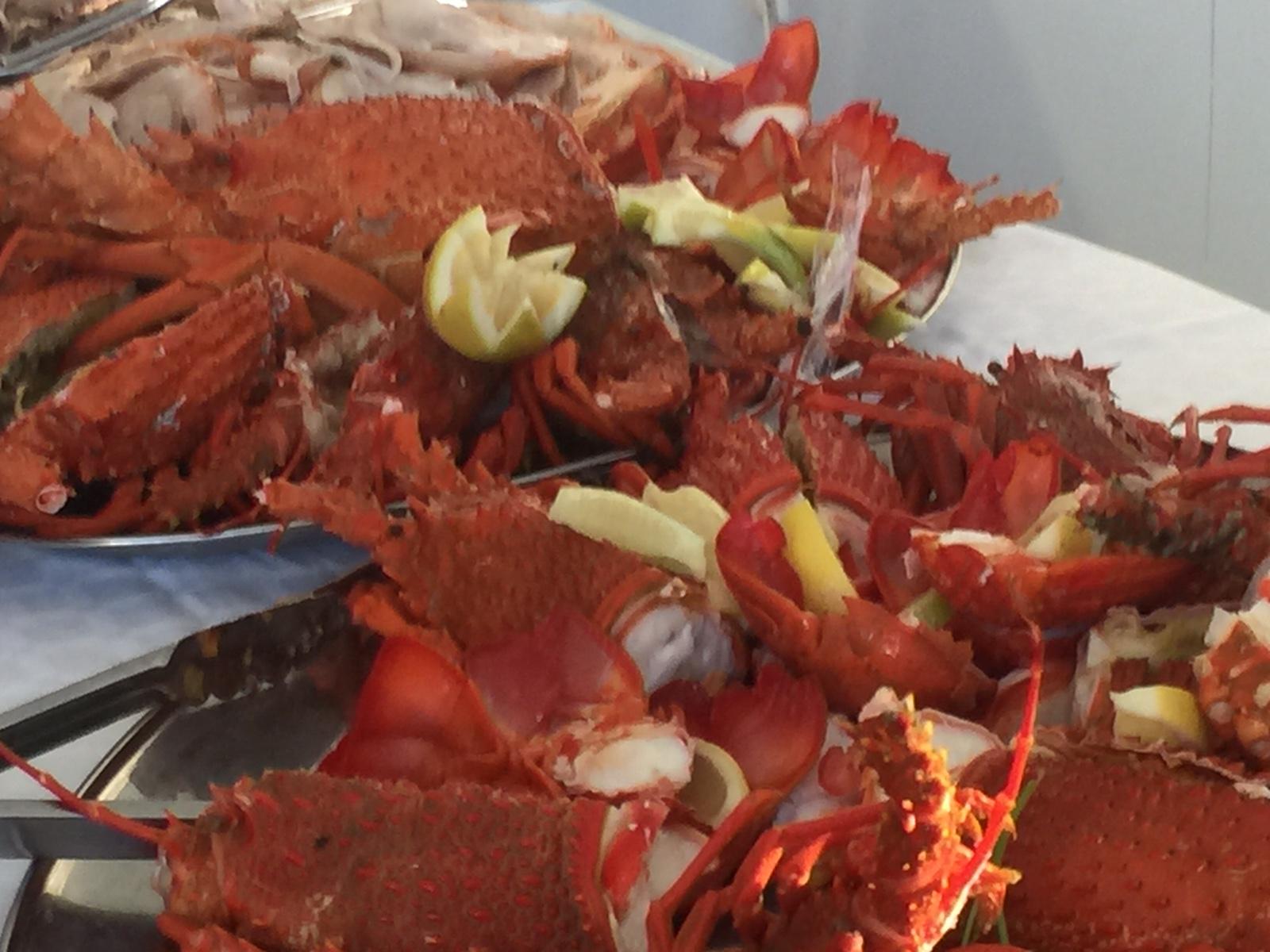 Crayfish in abundance- yum!