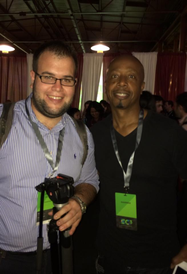 Meeting MC Hammer at the Evernote Conference.