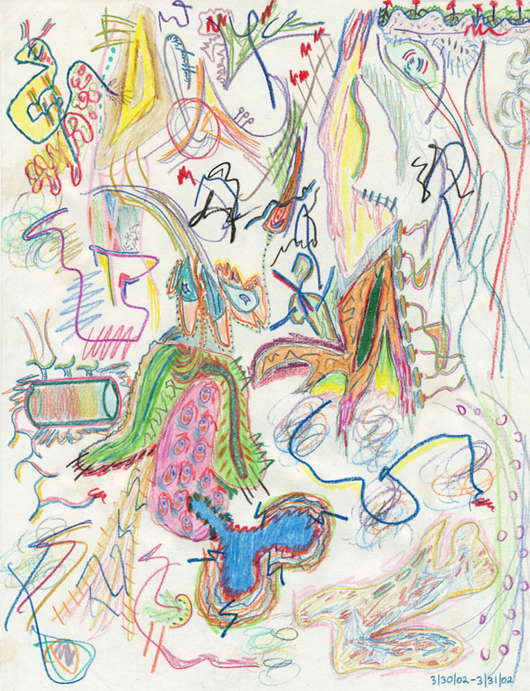 """""""Abstract No. 1""""   Colored Pencil on Paper (2002)"""