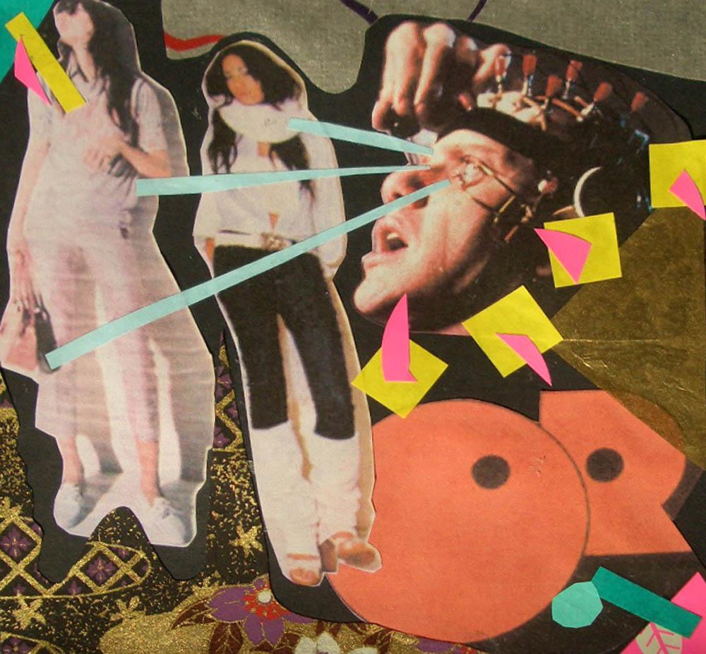 """""""A Clockwork Versace""""   Paper cut-outs & glue (2008)"""