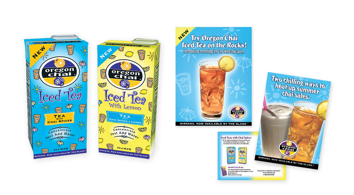 Oregon Chai new product packaging and promotion