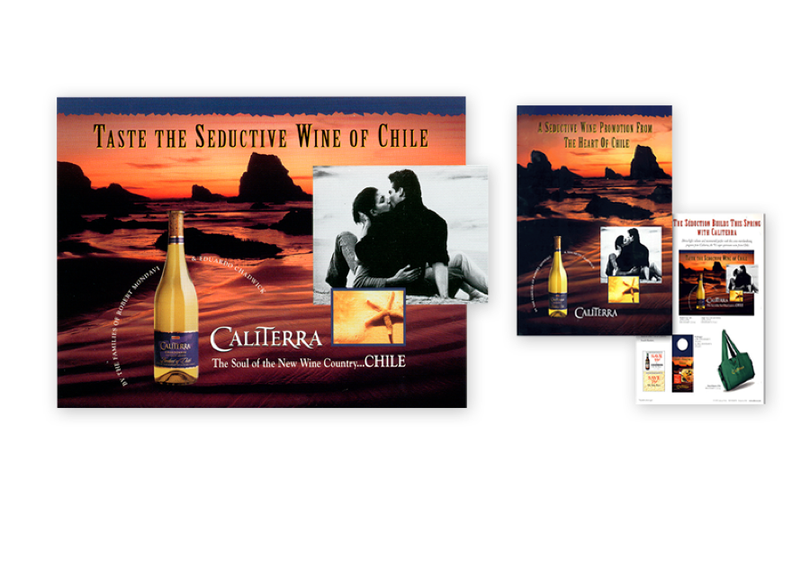 Summer promotion for Caliterra Wines included consumer offer, merchandising materials and die-cut, multi-layered POS