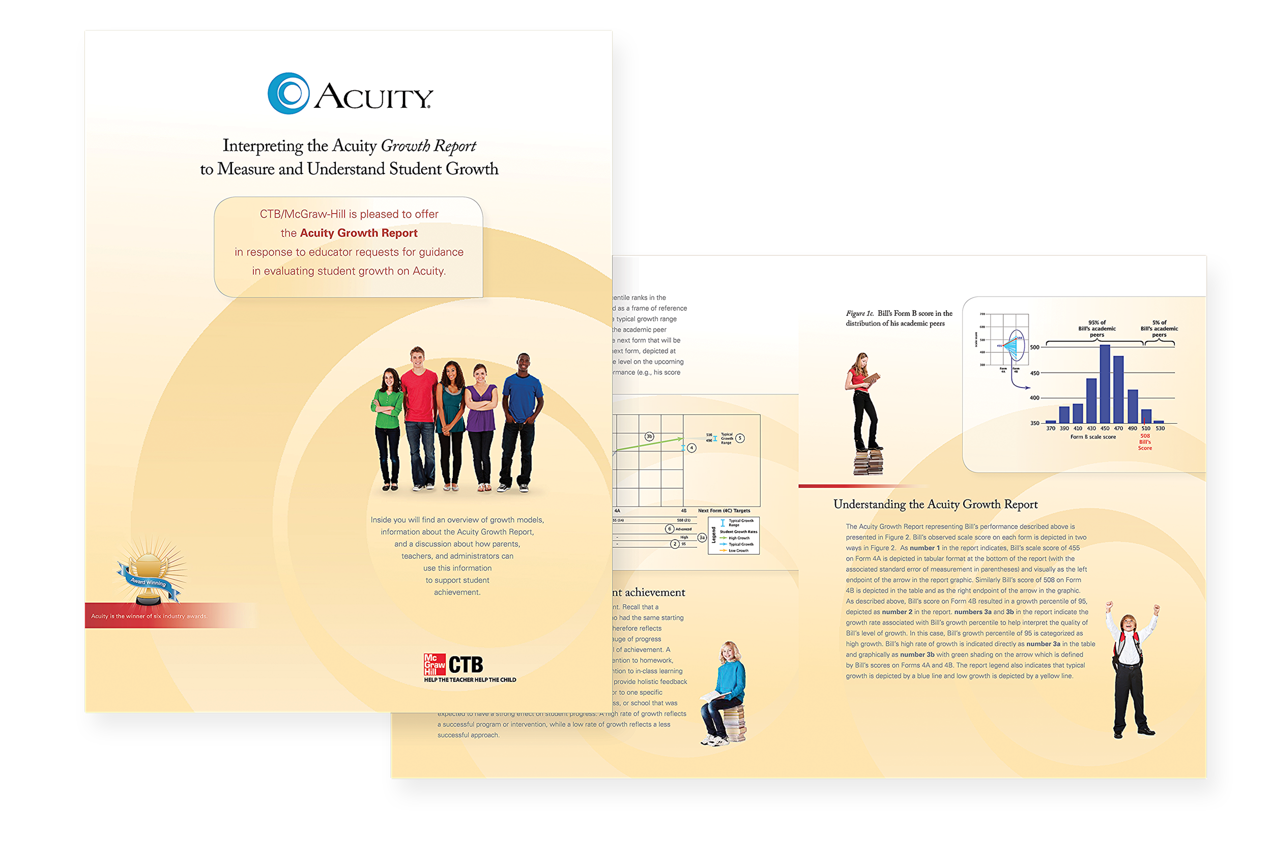 Acuity 16 page brochure takes an in-depth look on how to use Acuity's growth reports to impact student achievement.