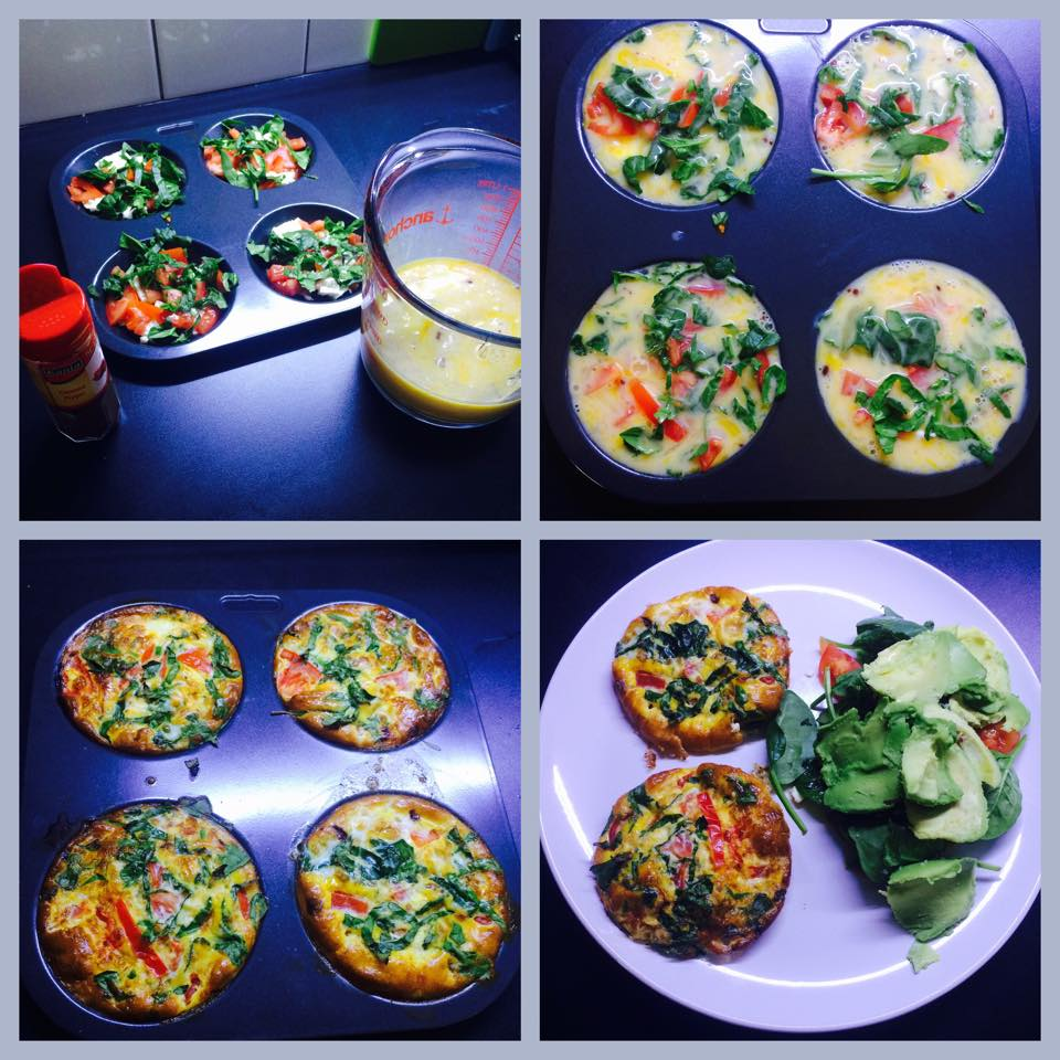 feta and spinach egg muffins