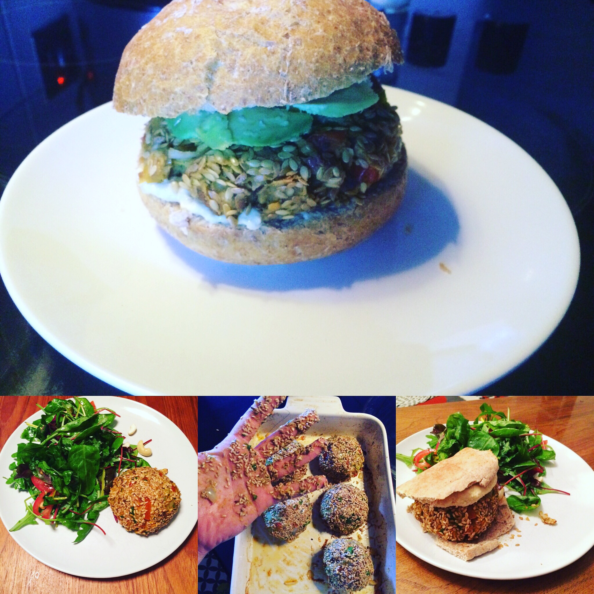 Here we have sweet potato & red pepper burgers, infused with sweet paprika & coated in linseed - taken from the 5 step framework outlined above