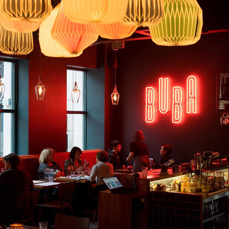 BUBA - St Anne's Square, BelfastBuba's menu is my favourite type of menu - lots of little things so you can order a bit of everything. Do that, and make sure the Stuffed Date Baklava is on the list…