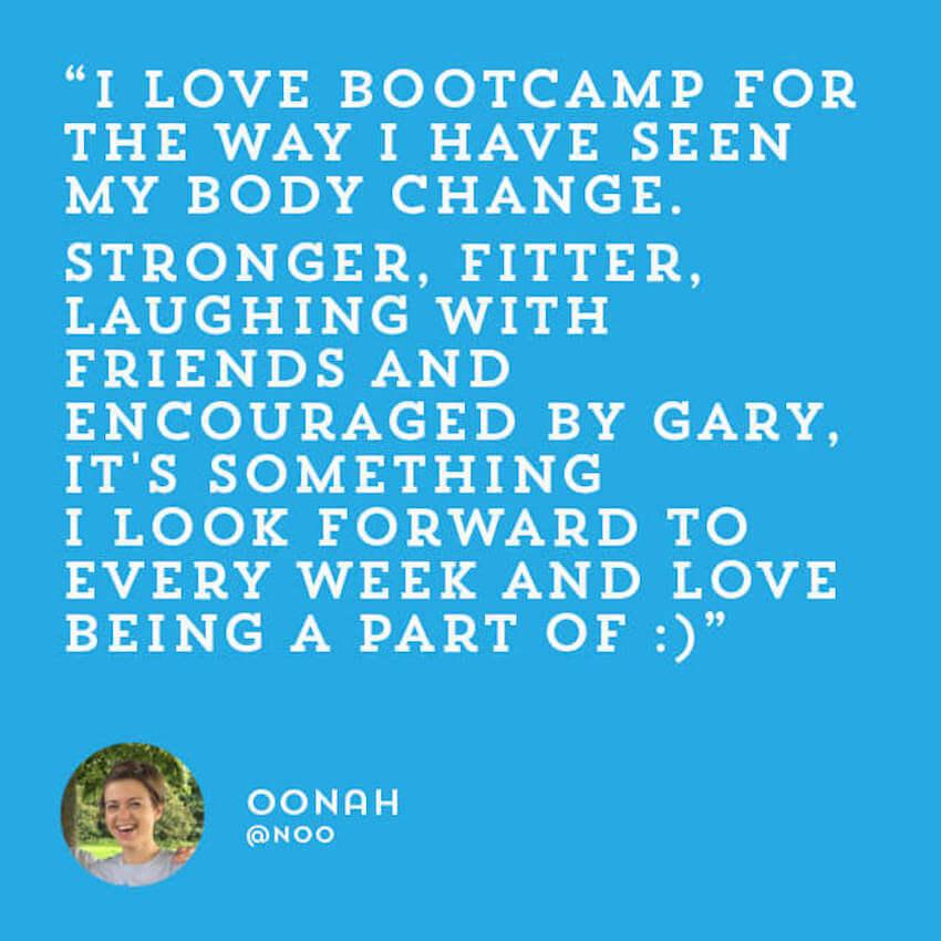 Fitness Belfast Kickstart Bootcamp testimonials reviews Oonah.jpg