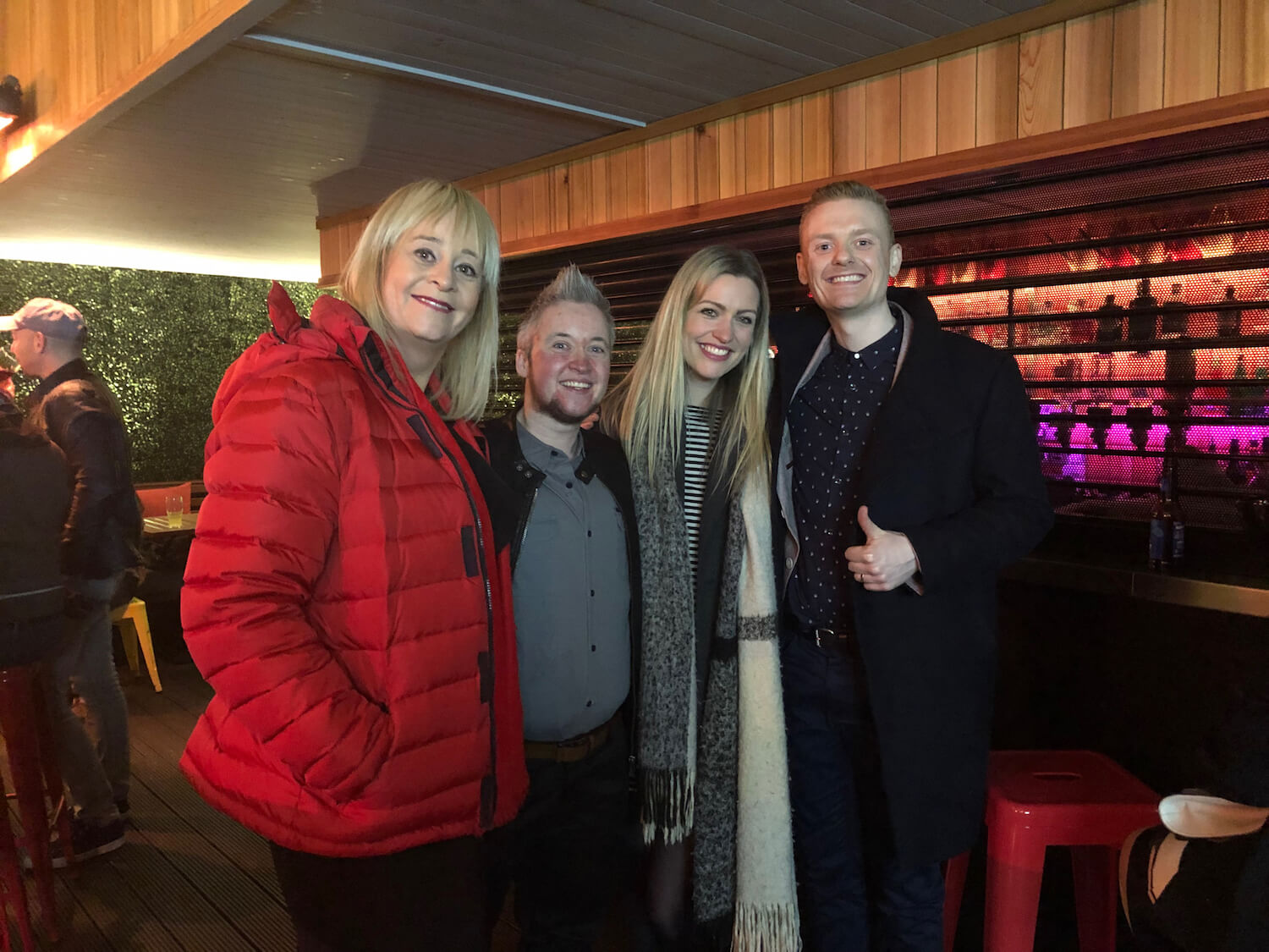 With two of the stars of the show, Karen & Andrew, as well as Director Emma at a special screening party, Union Street Bar, Belfast