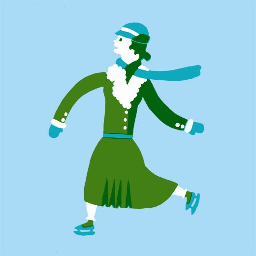 Ice-skater illustration used in the final design