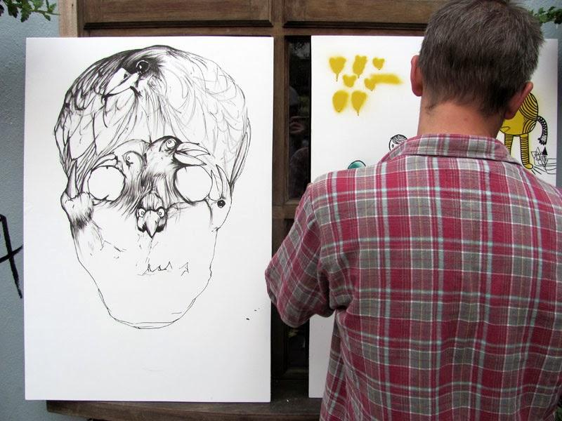 Drawing alongside Simon Mills