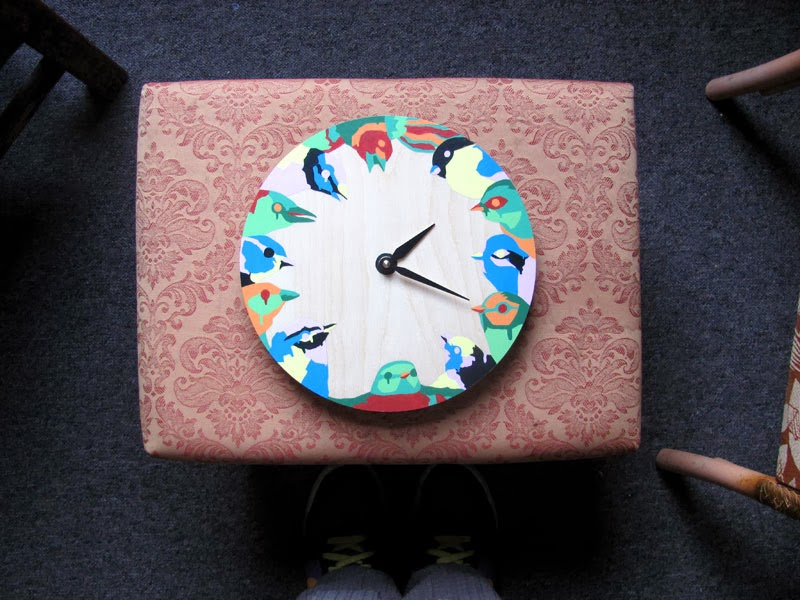 Another hand-painted clock from earlier on in the year