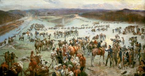 Gathering of the Overmountain Men by Lloyd Branson