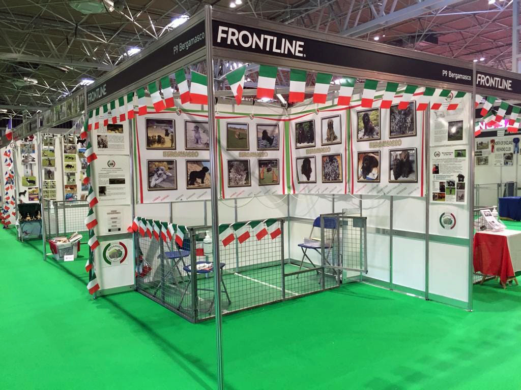 The beautiful booth of BOFF at Crufts 2019