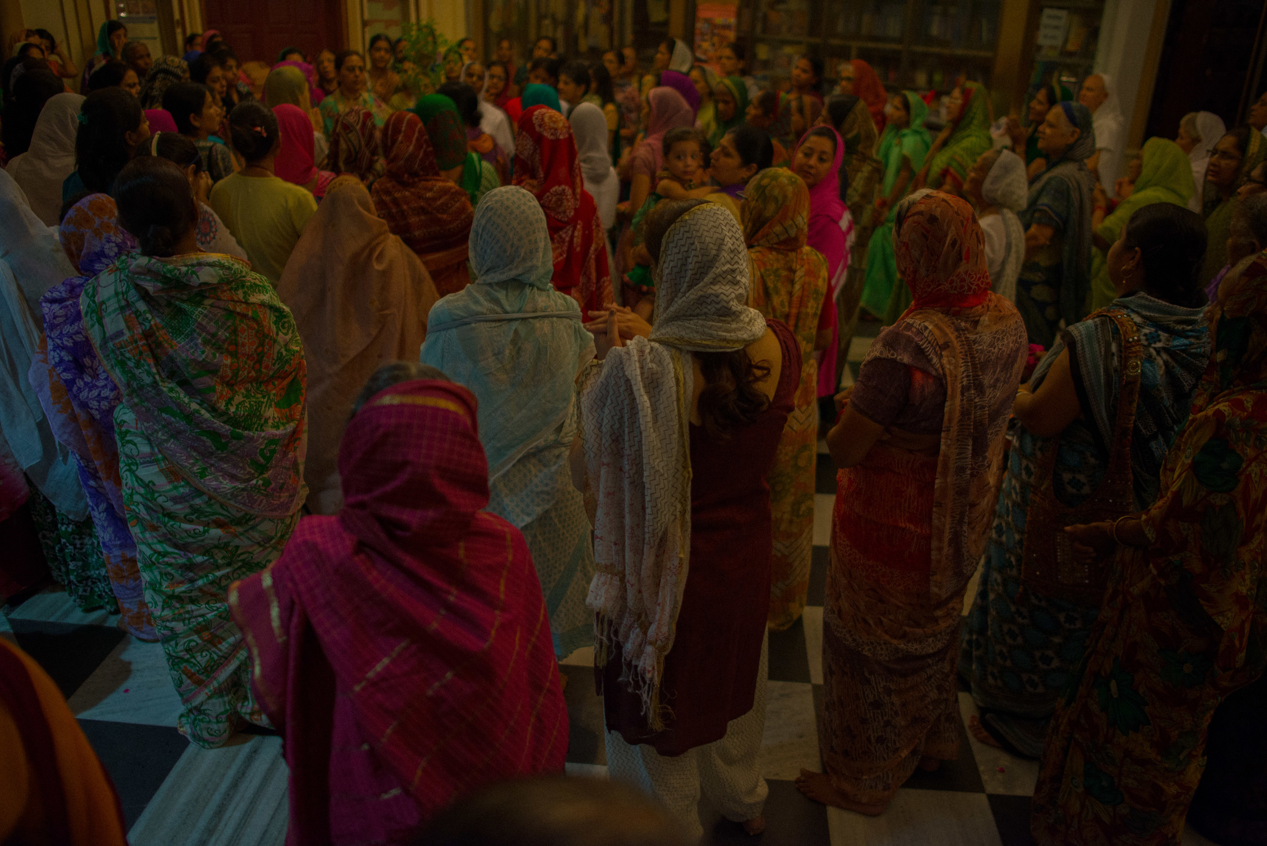 The women of ISKCON (also known as the Hare Krishna movement)