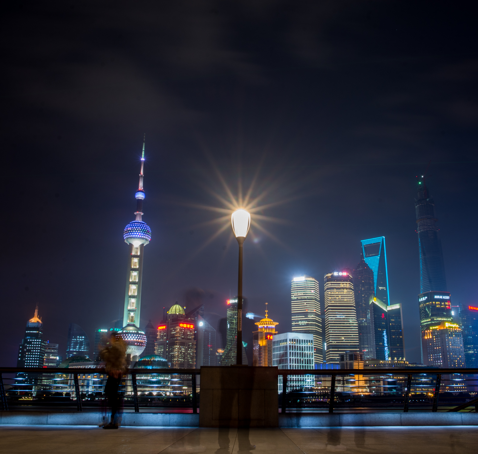 The Bund in Shanghai stretches a couple of miles along the Huangpu River, offering great views of Pudong on the other side