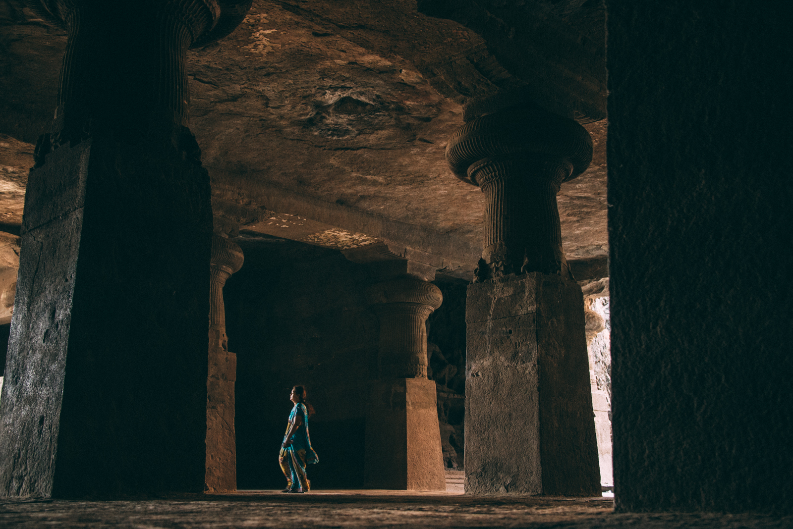 Elephanta Island Temple carved into a cave