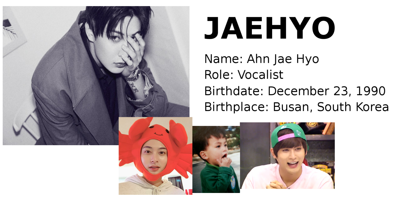 Jaehyo Block B singer Korean songs profile Block B: Zico, Park Kyung, Jaehyo, P.O, B-Bomb, U-Kwon, Taeil rapper songs Korean K-pop K hip hop hep hap Bastarz profile mitglieder membres tattoo personalities personality maknae age oldest youngest member
