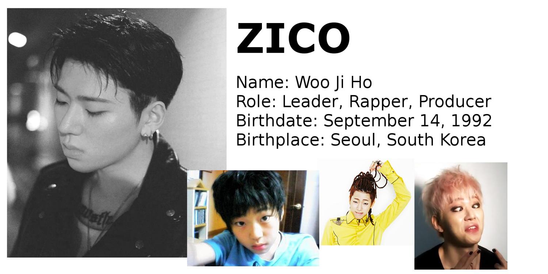 Zico Block B rapper Korean songs profile Block B: Zico, Park Kyung, Jaehyo, P.O, B-Bomb, U-Kwon, Taeil rapper songs Korean K-pop K hip hop hep hap Bastarz profile mitglieder membres member tattoo personalities personality maknae age oldest youngest