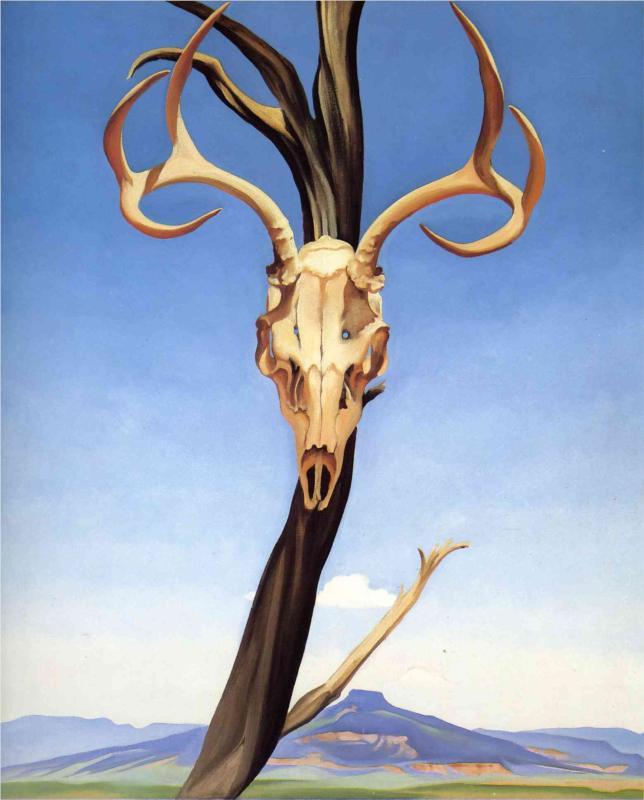 Deers Skull with Pedernal