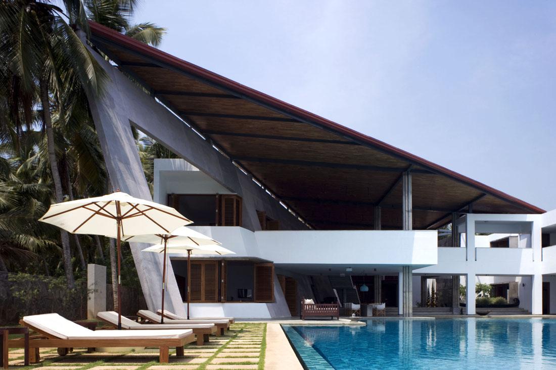 Modern beach home in Kerala, India.
