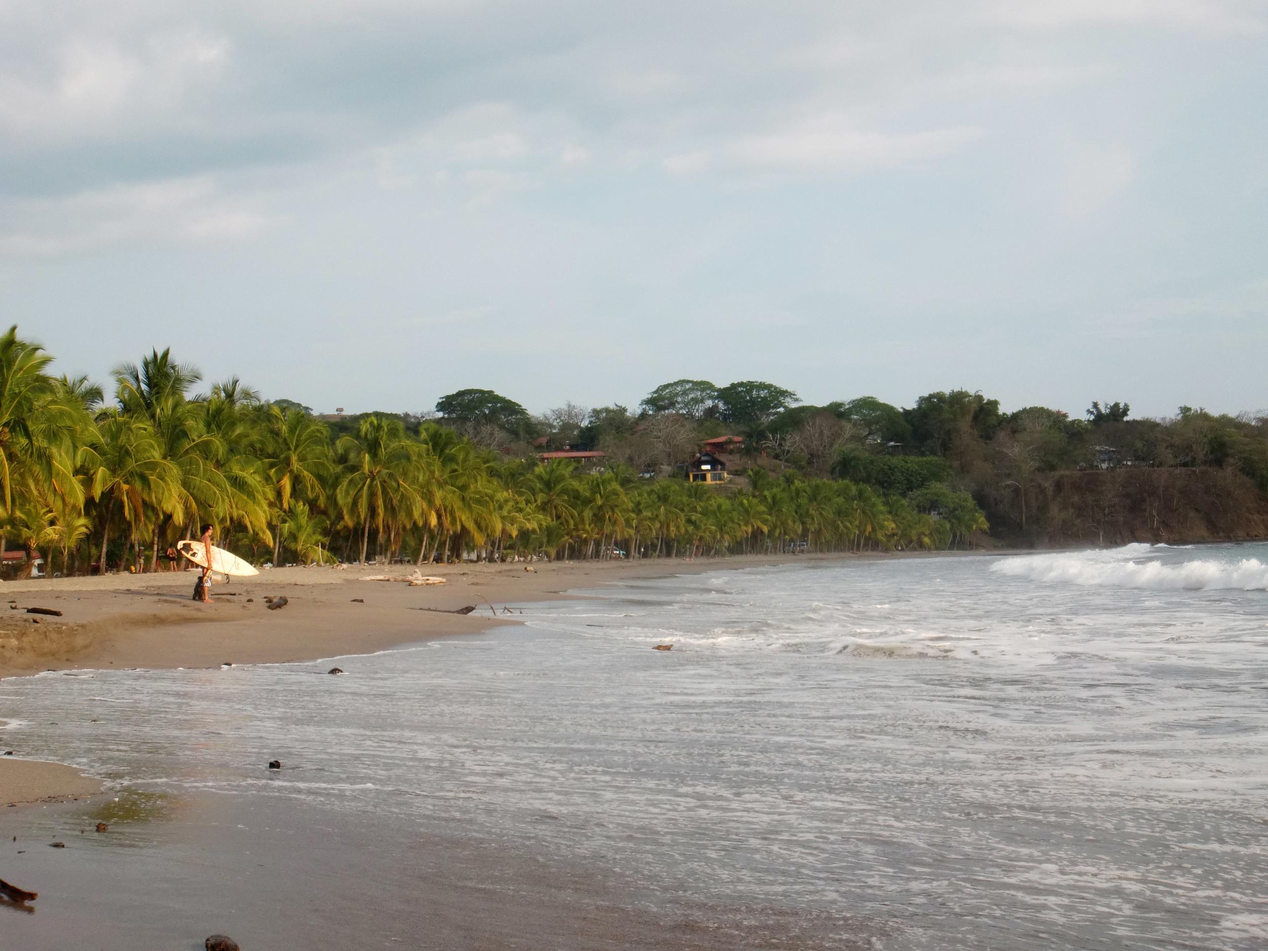 Surfer at Playa Carillo, Costa Rica
