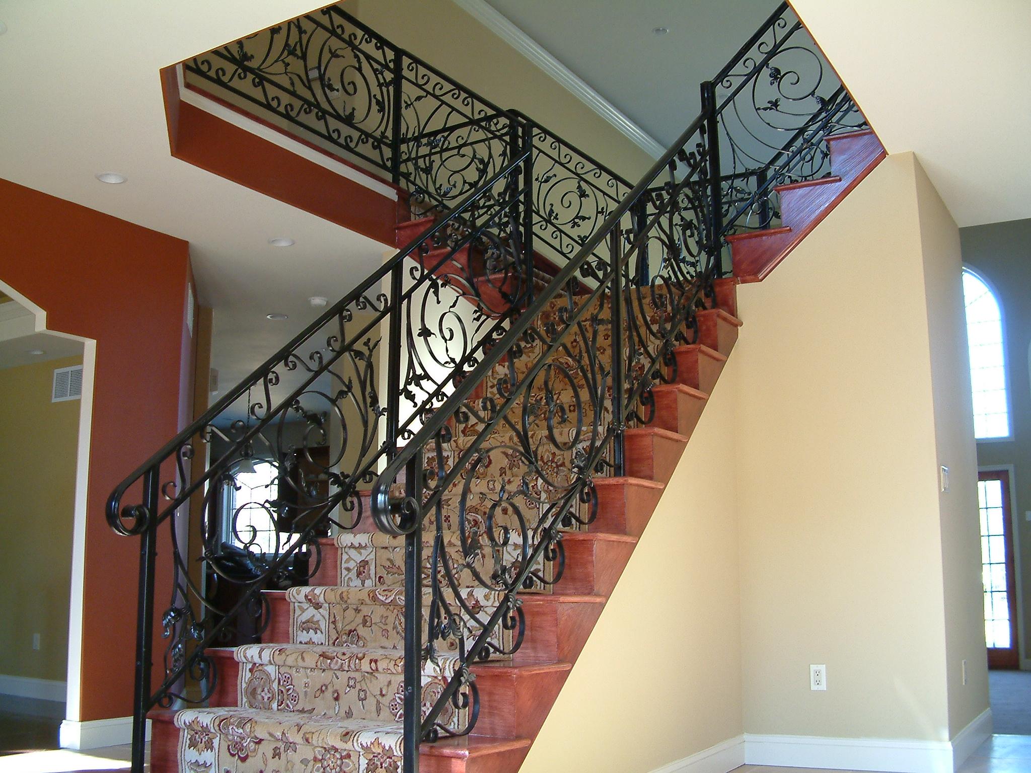 Ornamental steel railing