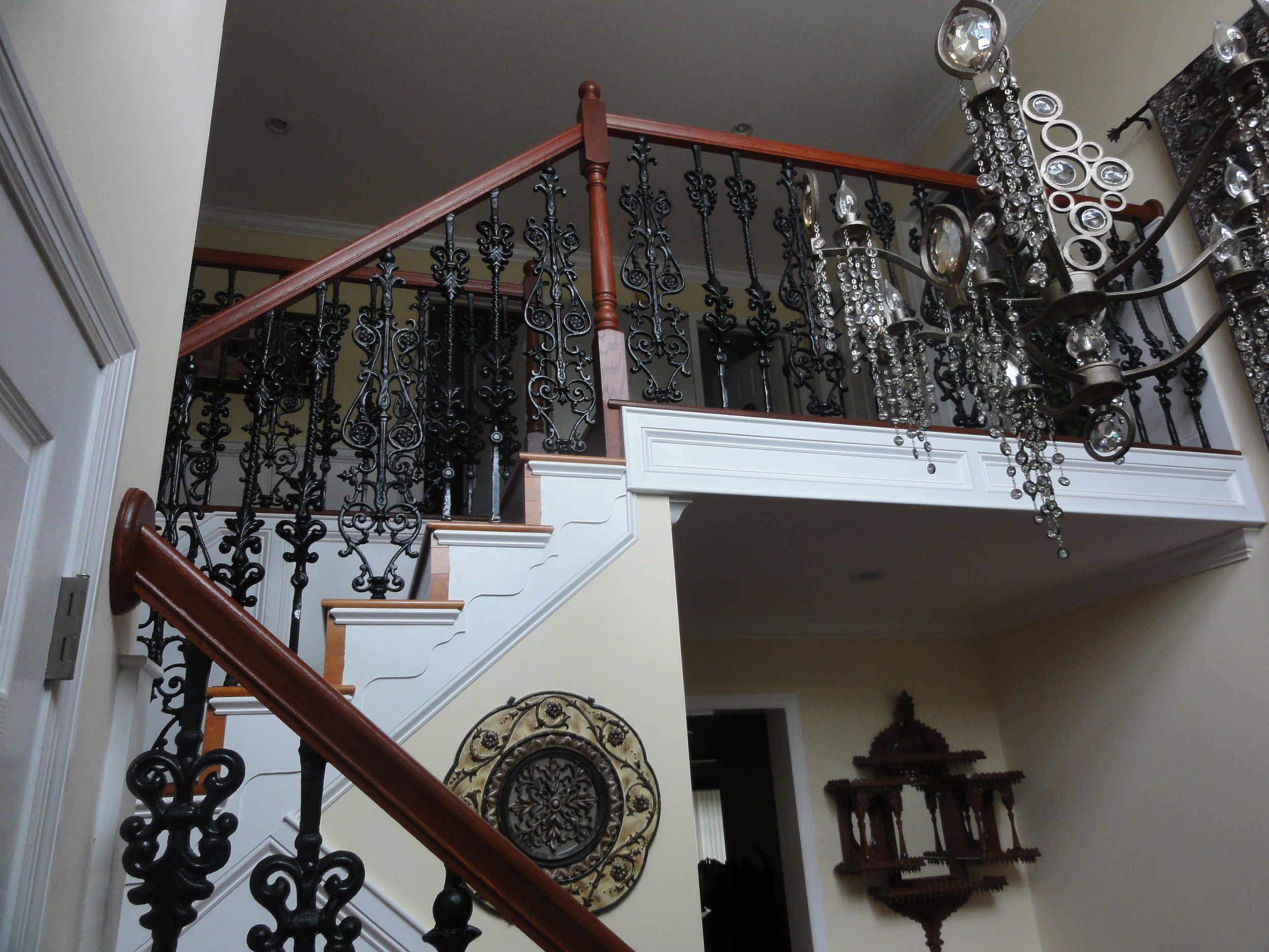 Ornamental railing with balusters