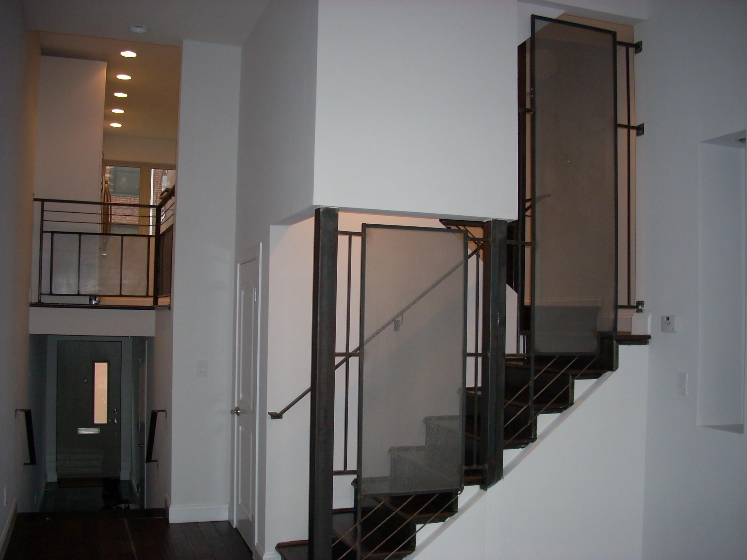 Industrial perforated steel railing