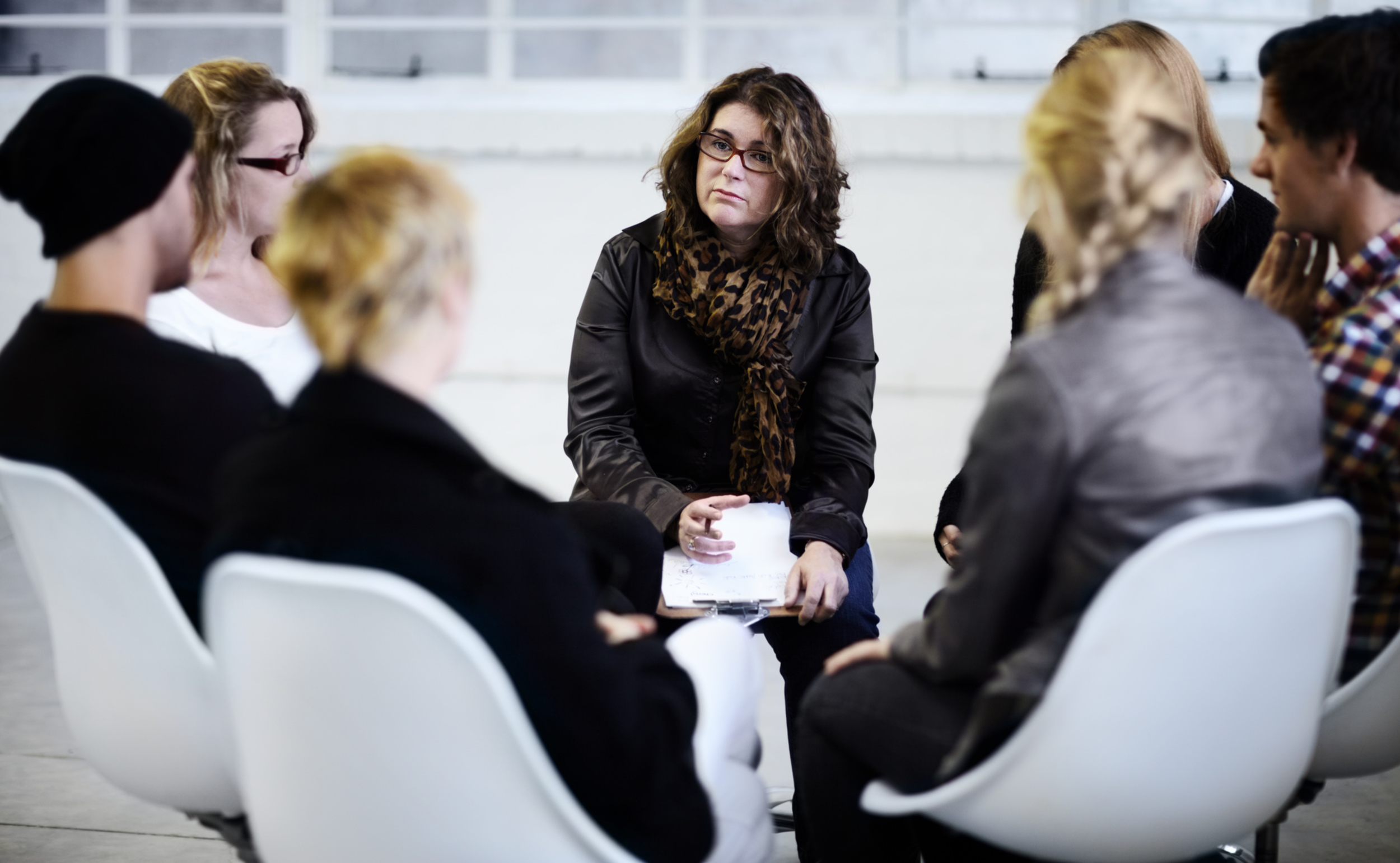 A talking circle may be included in a restorative justice process.