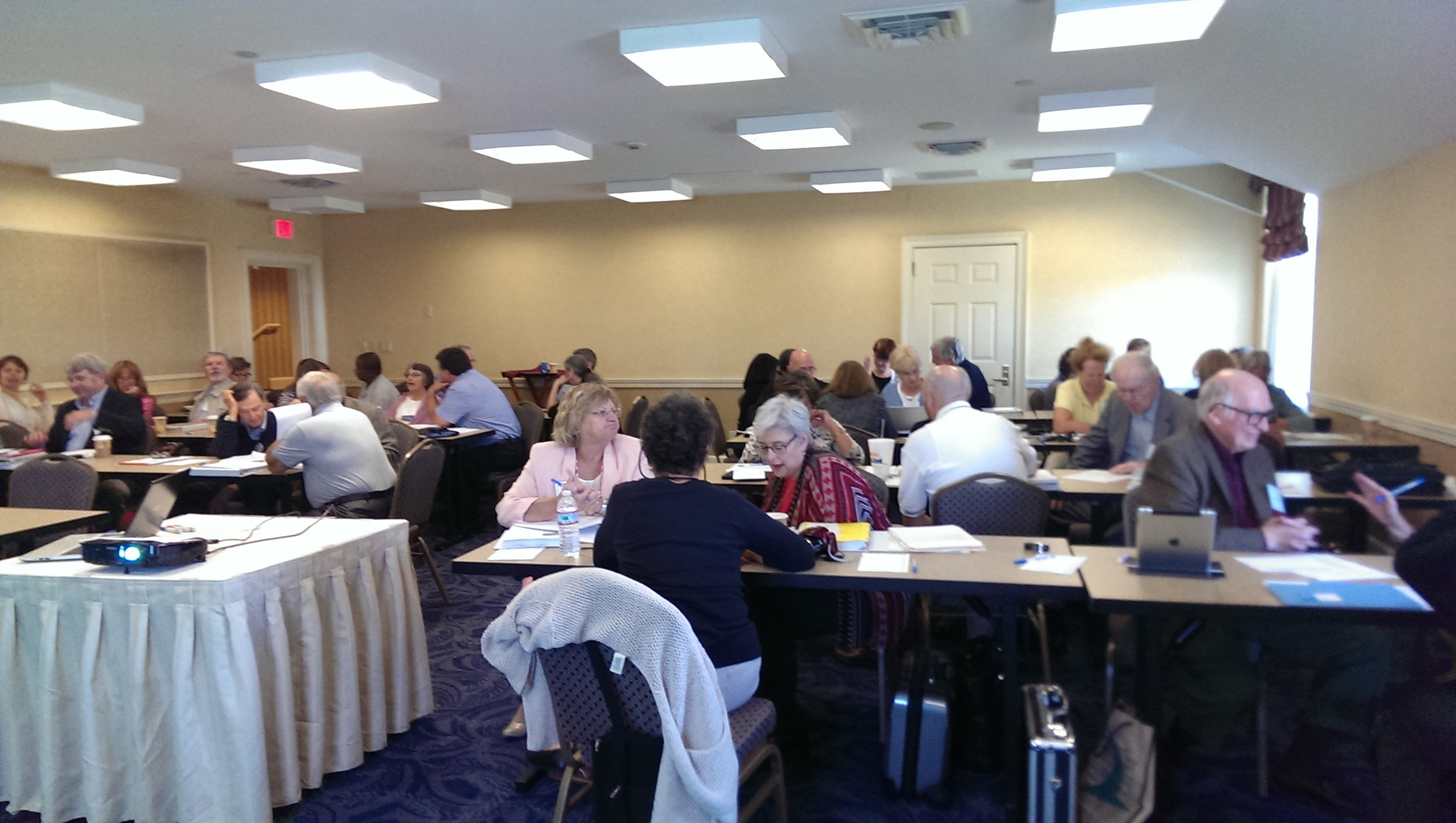 """During my workshop VMN participants engaged in a """"role play"""" and small group discussions."""