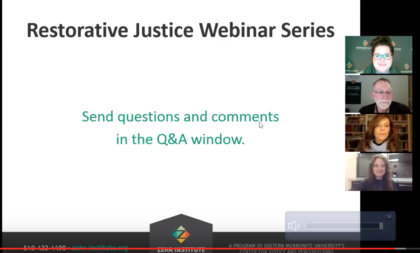 Last week I participated in a webinar with the Zehr Institute, on one of my favorite topics: restorative lawyering.