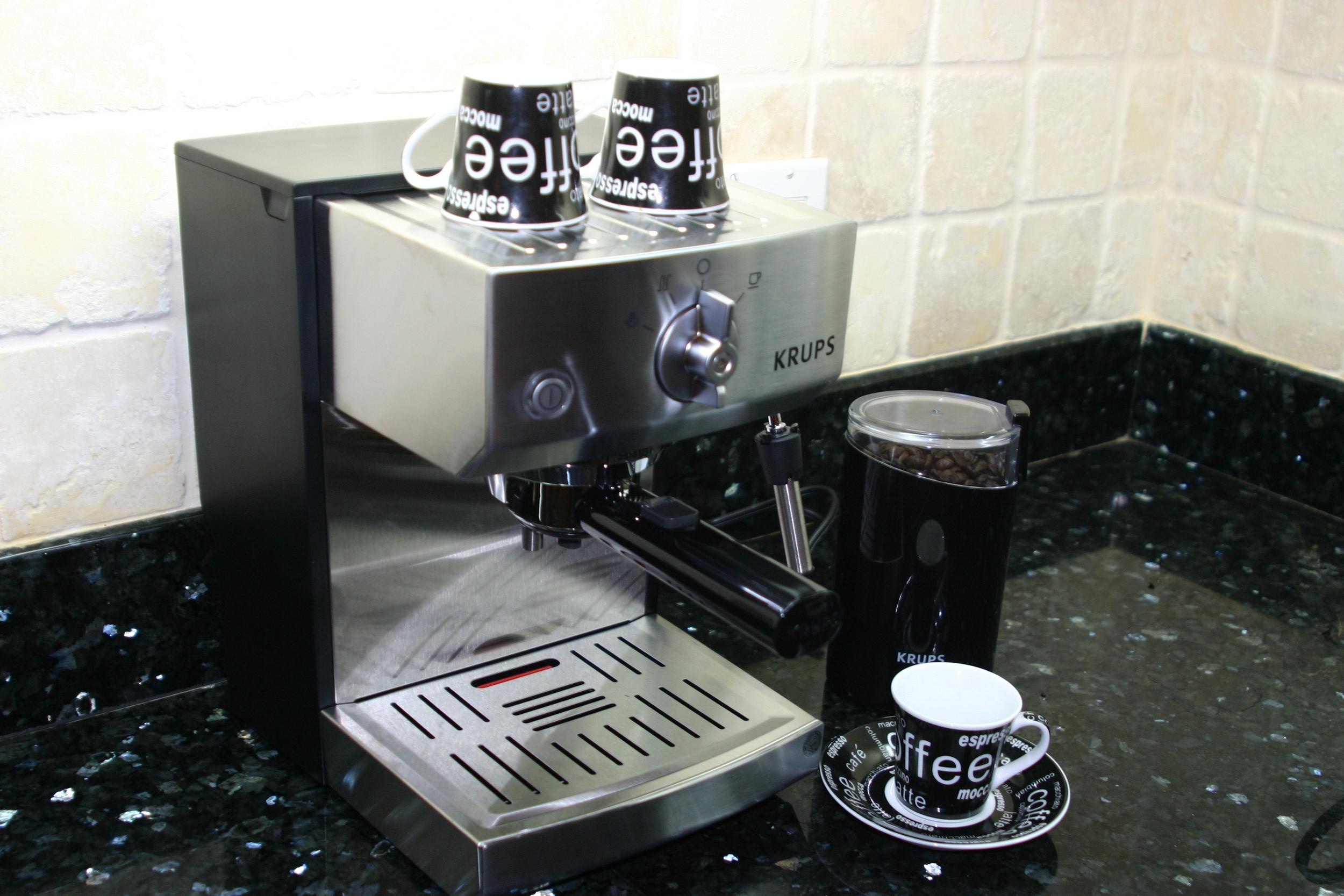 The new espresso machine