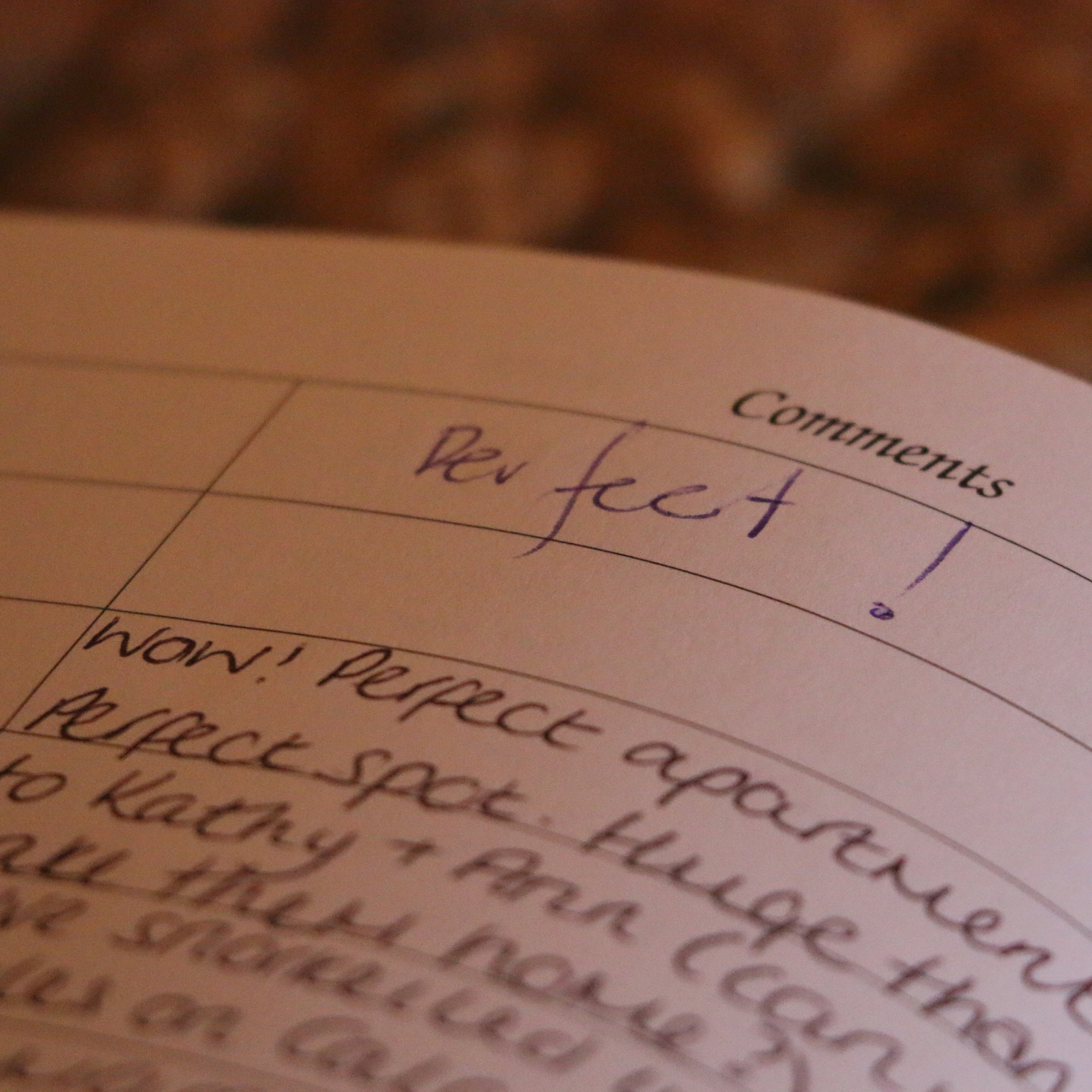 Some (genuine!) comments in our guest book