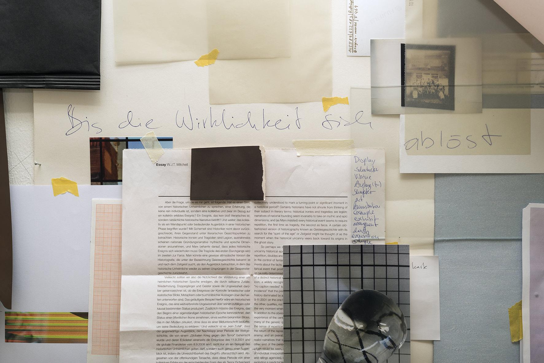 Bis die Wirklichkeit sich ablöst, collagierte Arbeit als Reproduktion. Edition von 10, signierter C-Print. Erhältlich auf Anfrage.
