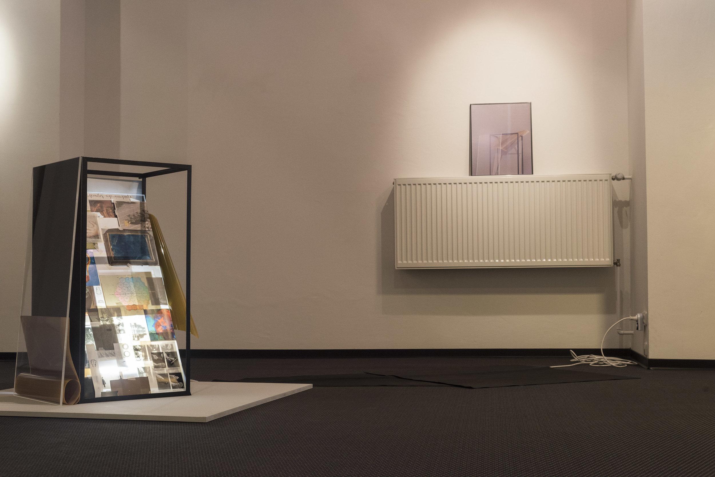 """Ausstellungsansicht """"Bis die Wirklichkeit sich ablöst"""" (Museum Temporär, Mülheim an der Ruhr, 2019)"""
