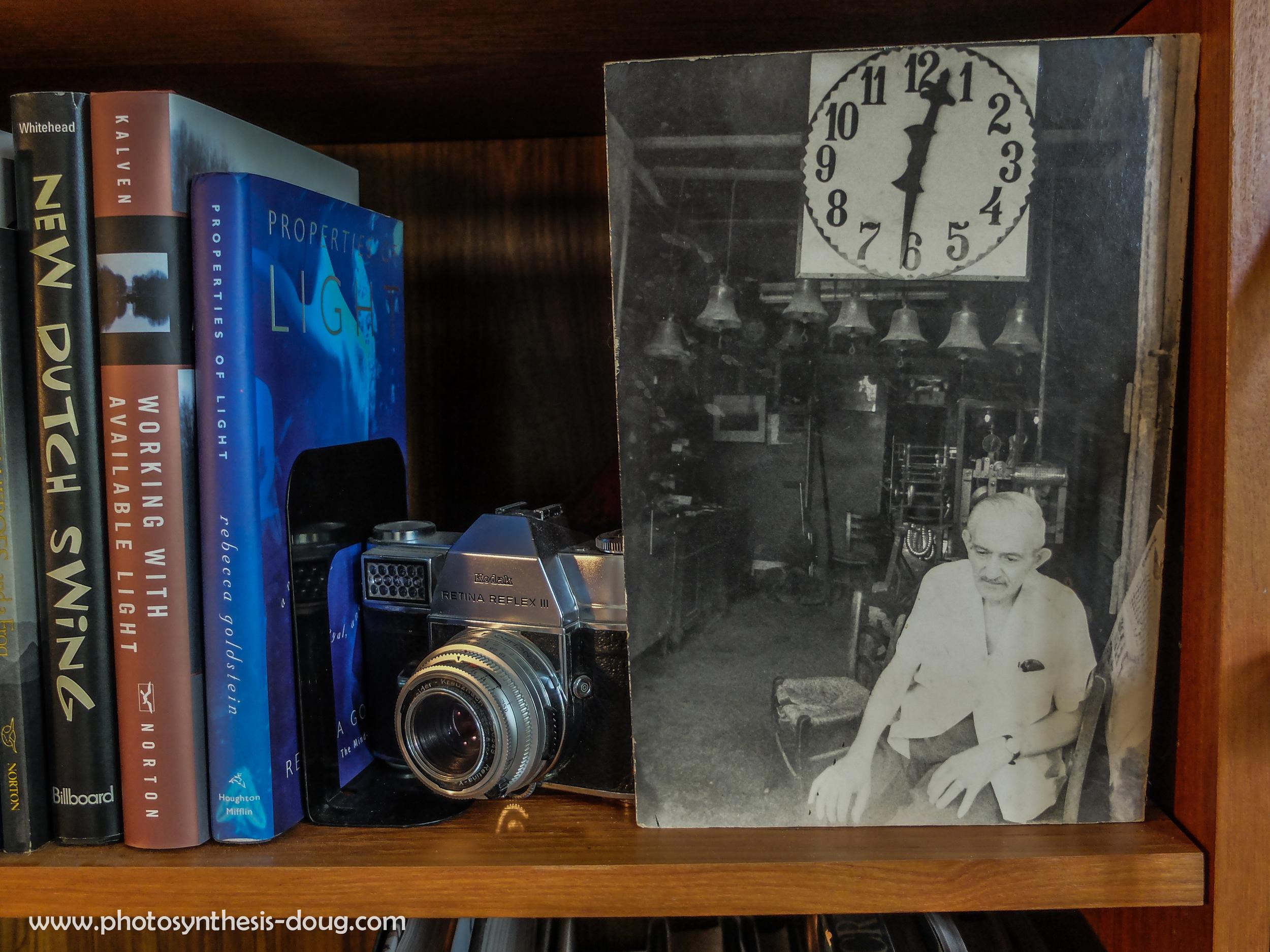 Detail photographer's bookshelf, 2013
