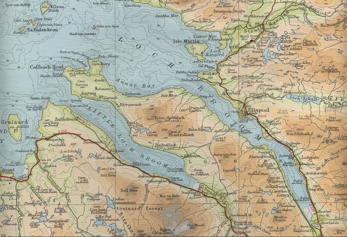 Chart of Loch Broom, Scotland