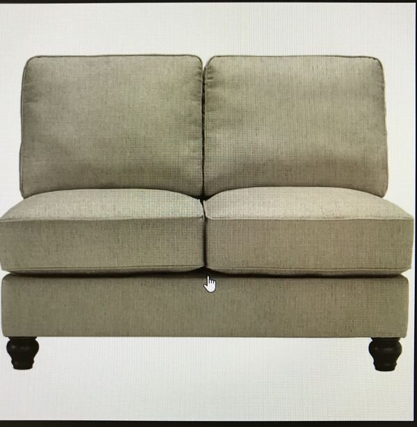ARMLESS CHAIR$419 - New (never used)Brand new armless chair. New in the box - never used- discontinued item Putty colorSKU #ASH2630034