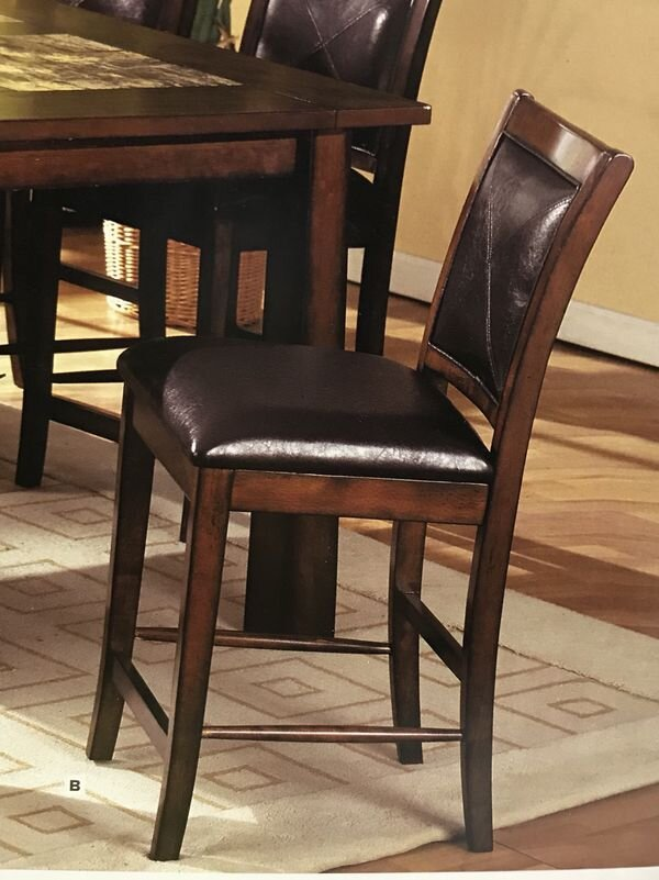 2 MISSION DINING ROOM CHAIRS - Liquidation Price- $1892 mission dining room chairs with modern leatherette and straight square legsNew in the box - never used Price is for the pairFOACM3590PC