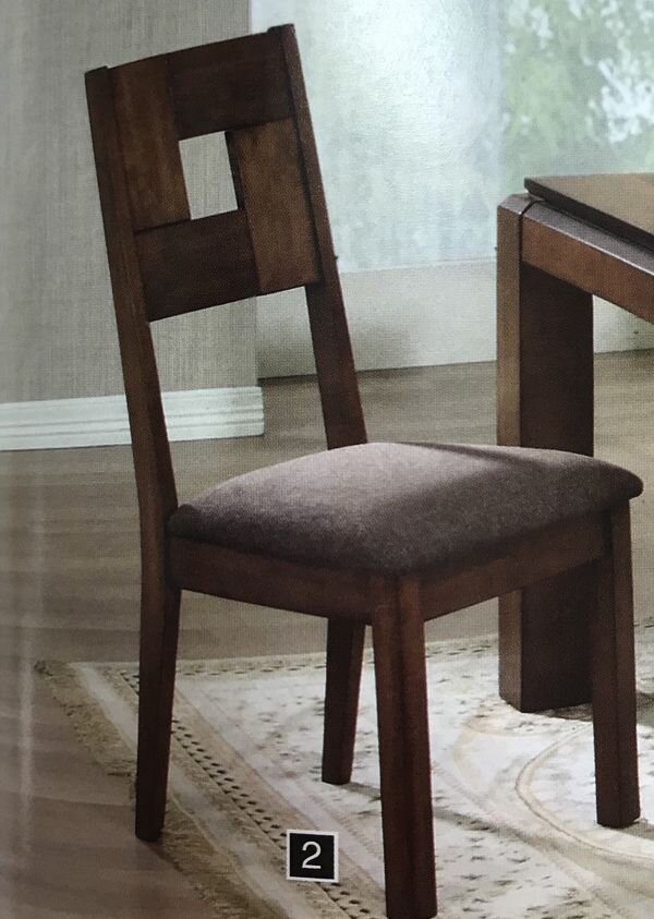 "PAIR OF WALNUT GRID PATTERN CHAIRS - Liquidation Price- $155Pair of walnut grid pattern chairs Measures 20""L 22""W 41""HBrand new in the box- discontinued itemCO102192"