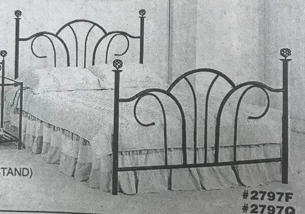 QUEEN BLACK HEADBOARD AND FOOTBOARD WITH METAL FRAME$149 - Queen black frame Does NOT include mattress and box spring Brand new in the box -discontinued item Nightstand $52 if you want itSKU#DC2797Q