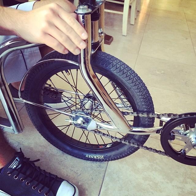 That Chrome Leaux Racing Trike💥👌😍 #Leaux #ride #drift #chrome #mercedes #ferrari #lamborghini #bmw #audi #insane #life #swag  #love #instagood #me #followback #follow #photooftheday #like #followme #tbt #tagsforlikes #beautiful #picoftheday #happy #instadaily #crazy #fun #smile #bestoftheday