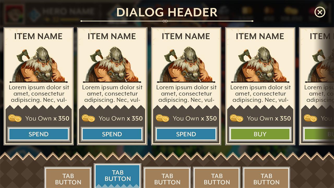 Basic selection screen