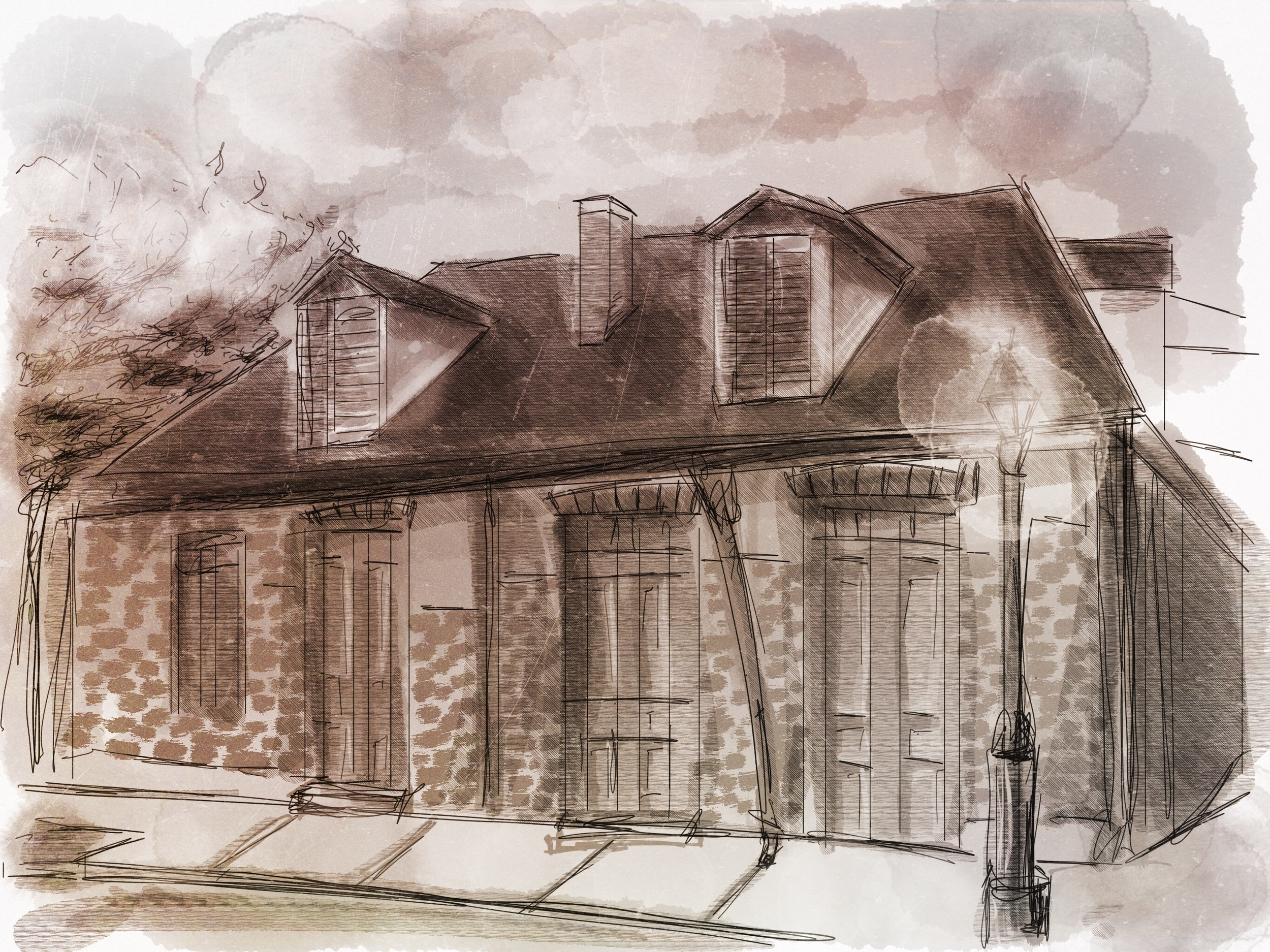 Lafitte's Blacksmith Shop built in 17something?