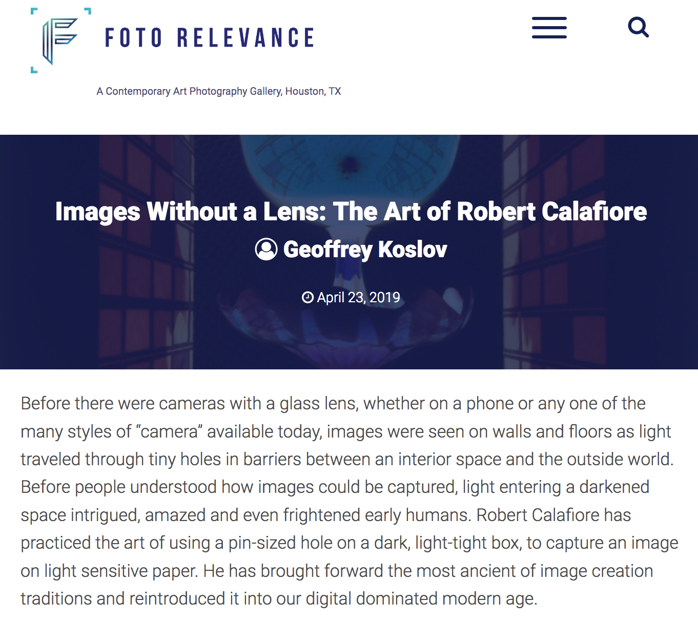 Read more here:   https://fotorelevance.com/images-without-a-lens-the-art-of-robert-calafiore/