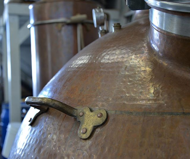 Our spirtis begin and end with our still. Hand crafted by 4th generation Portuguese copper smiths in the traditional Alembic style. It took two men 9 months to craft from raw copper with hand cast handles and traditional rivets, it's imperfections are its beauty.  She is one of the reasons our products maintain their distinct floral, earthy, and raw characteristics. We cherish her for allowing us to achieve and pursue as distillers. #fruittoglass
