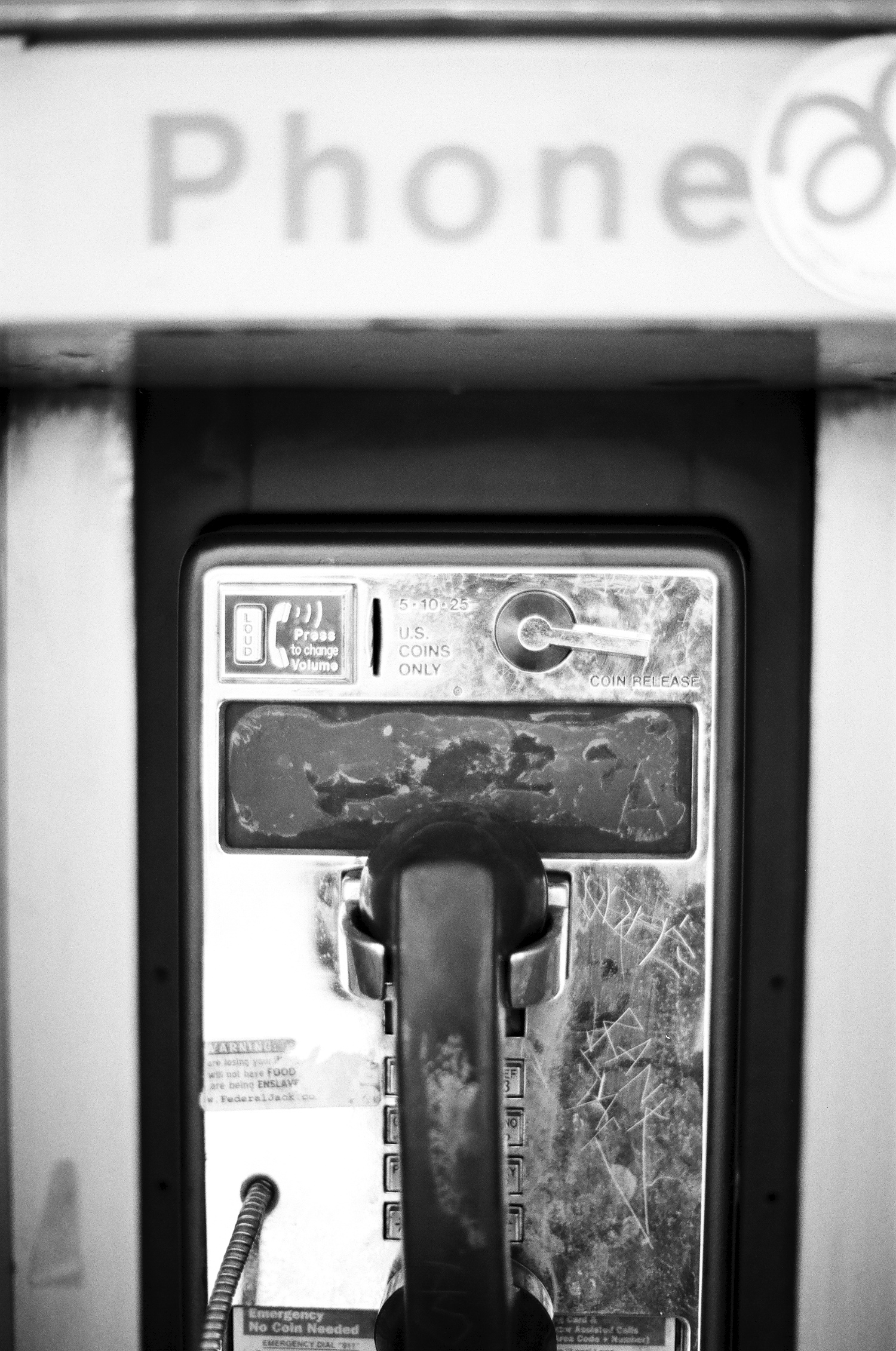 Old telephone in Phx downtown