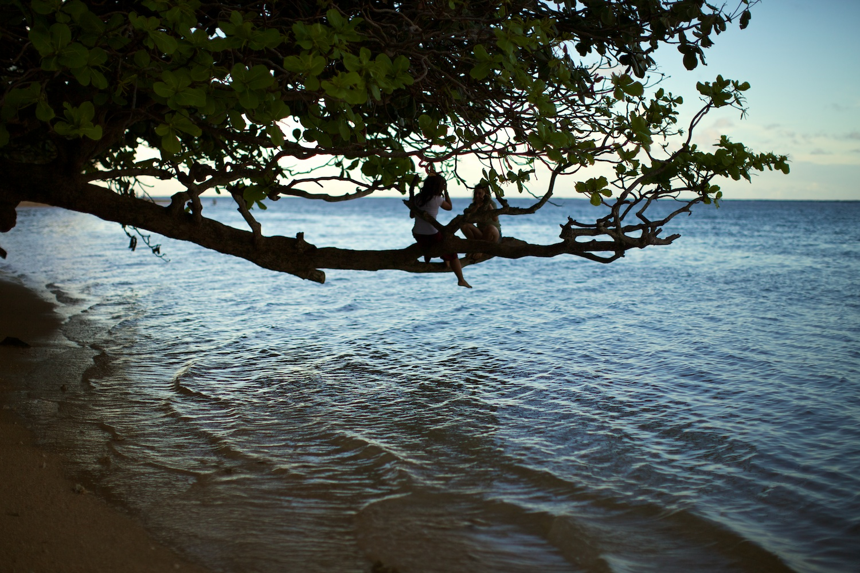 Local kids at play @ Anini Beach